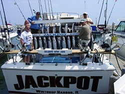Pictures jackpot fishing charters for Fishing charters michigan
