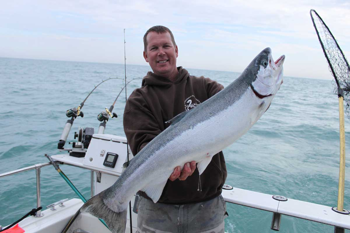 jackpot fishing lake michigan salmon fishing charters